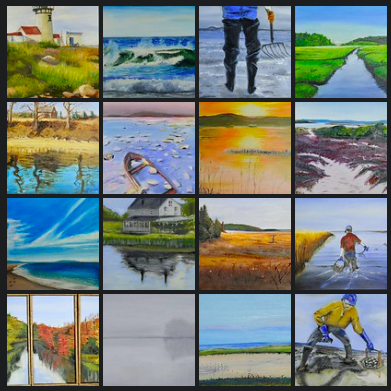 Art Auction: Rick Silverman Oil Paintings Scenes from the Coast September 2019